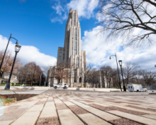 front view of cathedral of learning